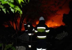 Pożar na ul. Łąkowej