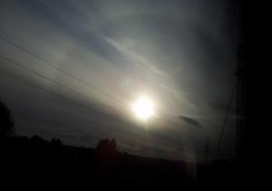 Halo na niebie