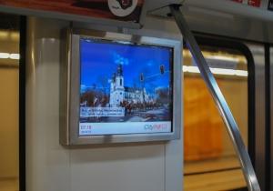 Zdjęcia z Mińska znów w warszawskim metrze