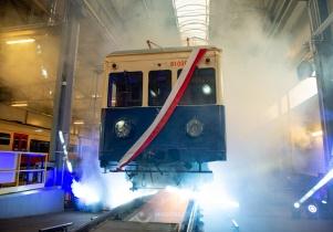 W Mińsku odrestaurowano najstarszy polski elektryczny pociąg