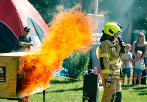 Uczyli gasić pożar