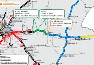 Znamy już wszystkich wykonawców zainteresowanych budową A2 pomiędzy Mińskiem Mazowieckim a Siedlcami
