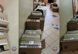 Policjanci odkryli ponad 14 tys. paczek papierosów bez polskich znaków akcyzy
