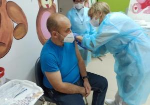 Szczepienia przeciw COVID-19 w mińskim szpitalu