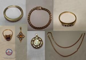 Dzielnicowi odzyskali złotą biżuterię za ponad 12 tys. złotych