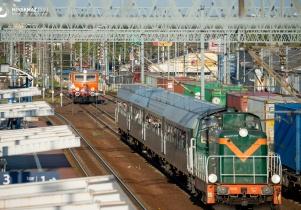 Wycieczkowy retro-pociąg w Mińsku