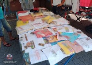 Podrabiana odzież o wartości ponad 75 tys. zł. zabezpieczona przez policjantów