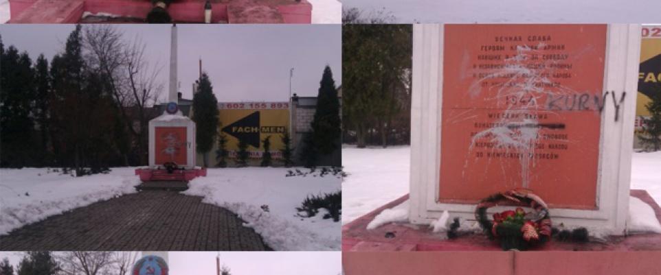 Zdewastowano Pomnik Żołnierzy Armii Czerwonej