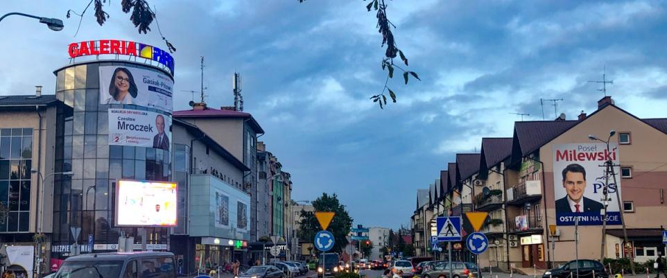 Kampania wyborcza do sejmu i senatu w Mińsku