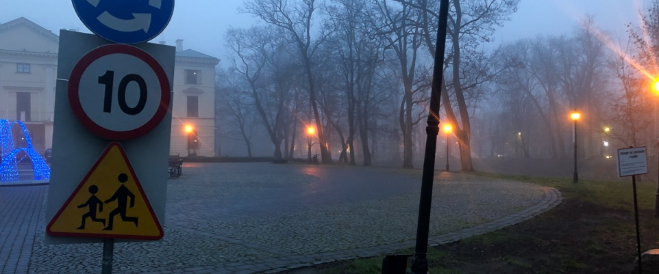 Pechowy rajd przed pałacem