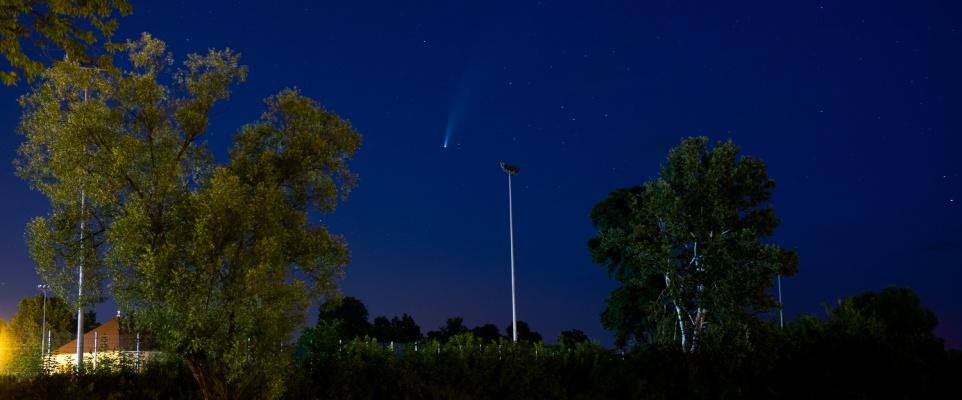 Kometa NEOWISE nad Mińskiem