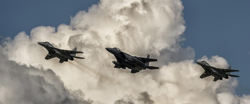 F-15 nad Mińskiem