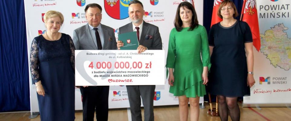 Dofinansowanie z budżetu samorządu Mazowsza na budowę nowej drogi